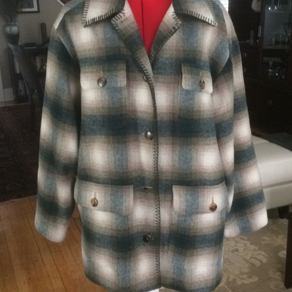 Jackets & Blazers - Lord and Taylor plaid coat